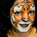 Lépésről lépésre – tigris arcfestés