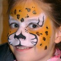 Lépésről lépésre – leopárd arcfestés