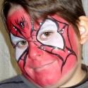 Lépésről lépésre – pókember arcfestés